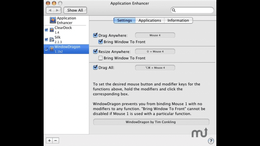 WindowDragon for Mac - review, screenshots