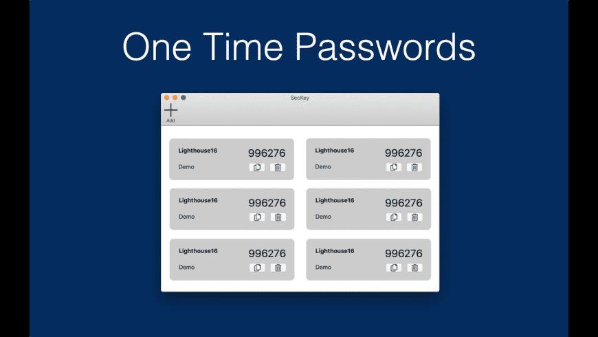 SecKey for Mac - review, screenshots