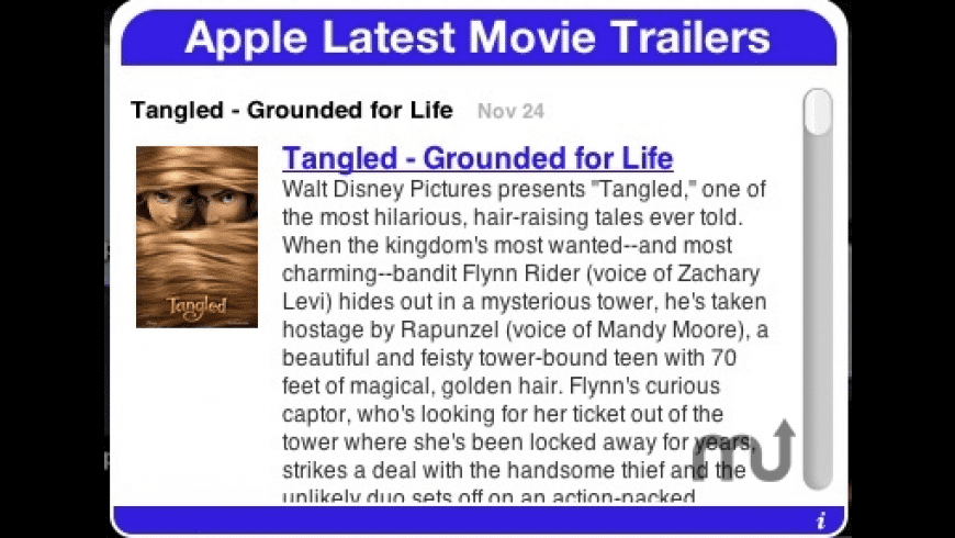Apple Latest Movie Trailers for Mac - review, screenshots