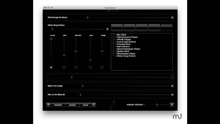 resonance for Mac - review, screenshots