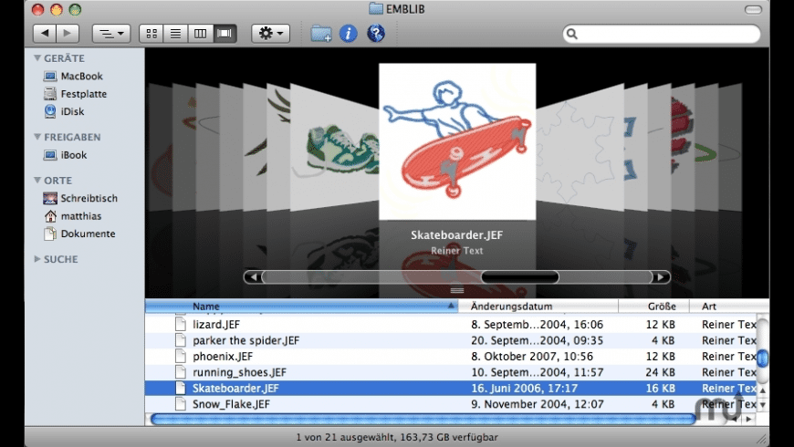 JEFview for Mac - review, screenshots