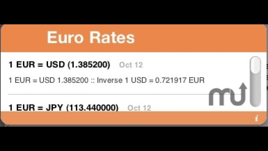 Euro Rates for Mac - review, screenshots
