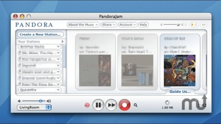 PandoraJam for Mac - review, screenshots