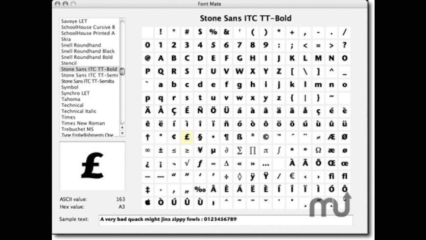 Font Mate for Mac - review, screenshots