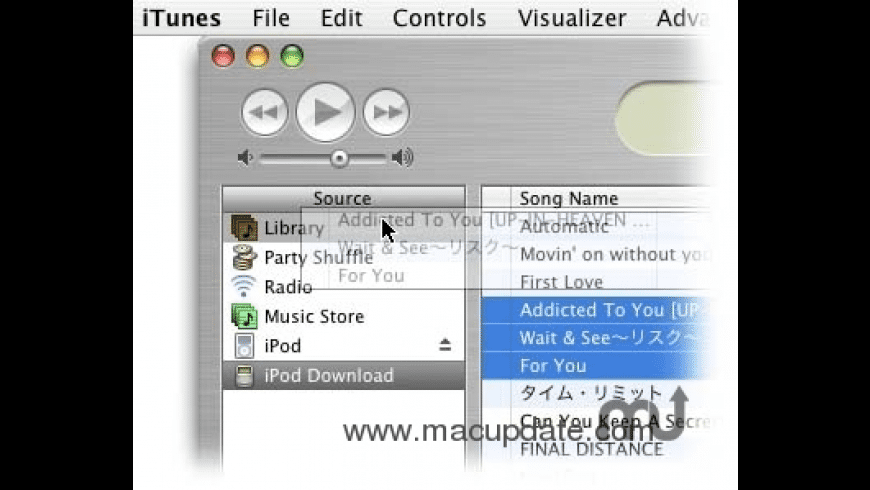 iPodDownload for Mac - review, screenshots