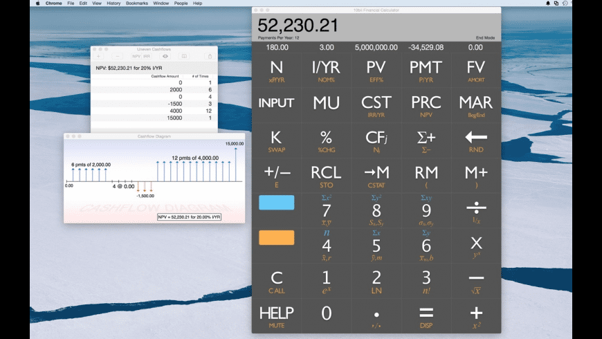 10bii Financial Calculator for Mac - review, screenshots