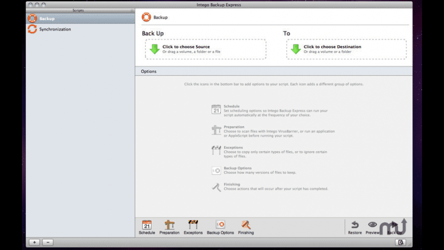 Intego Backup Express for Mac - review, screenshots