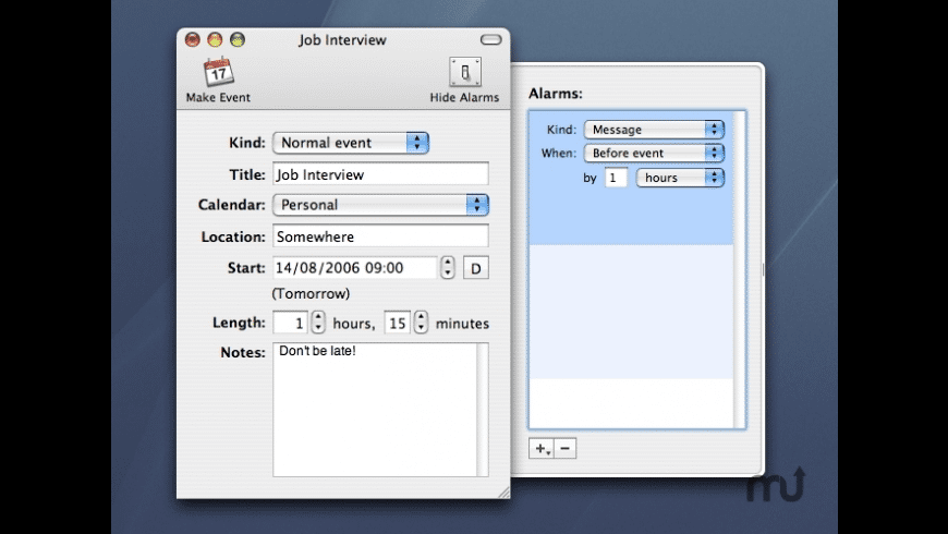 Event Maker for Mac - review, screenshots
