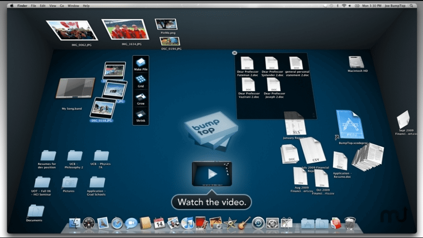 BumpTop for Mac - review, screenshots