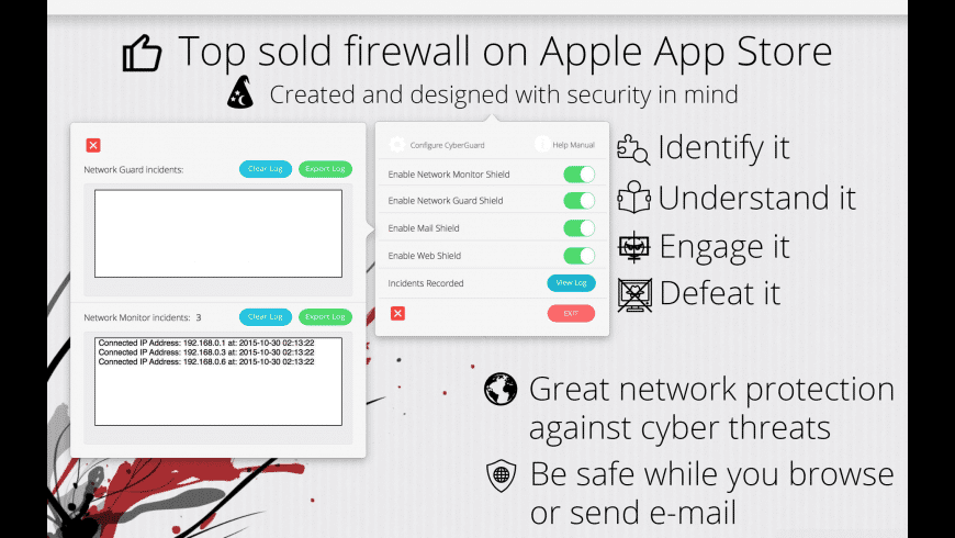 Firewall CyberGuard for Mac - review, screenshots