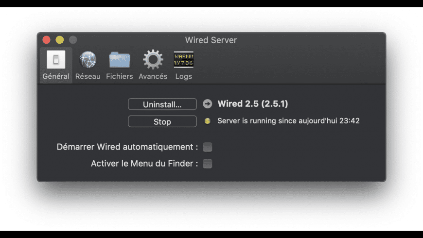 Wired Server for Mac - review, screenshots