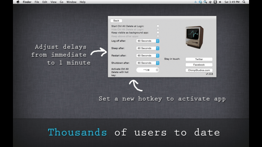 Ctrl Alt Delete for Mac - review, screenshots