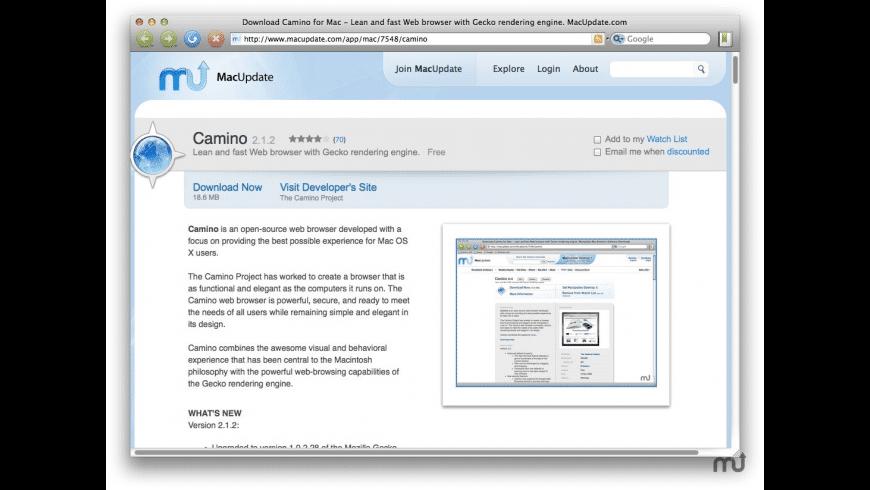 Camino for Mac - review, screenshots