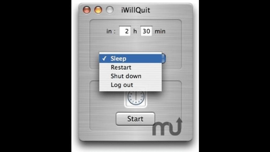 iWillQuit for Mac - review, screenshots