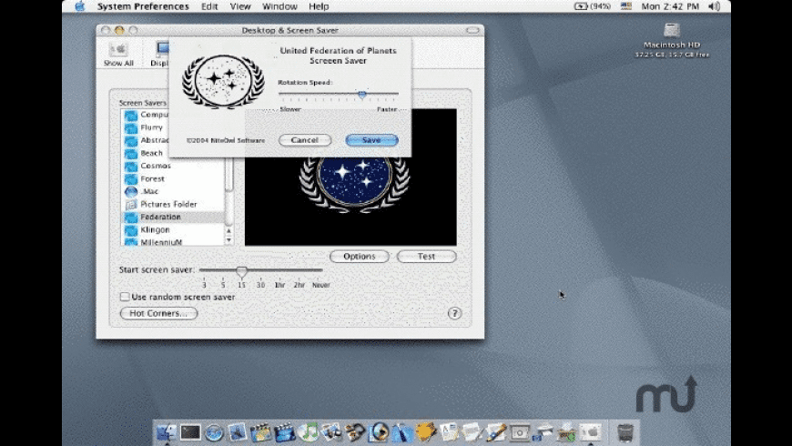 Federation Screen Saver for Mac - review, screenshots