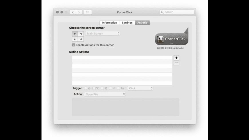 CornerClick for Mac - review, screenshots