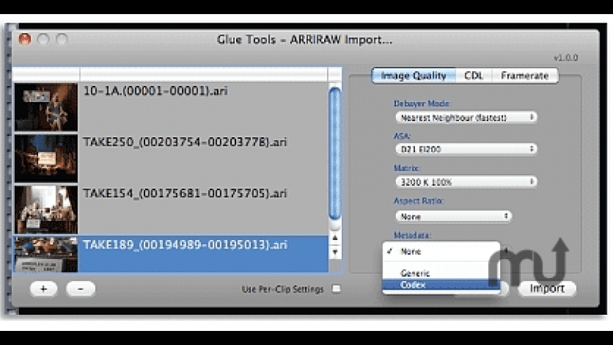ARRIRAW Toolkit for Mac - review, screenshots