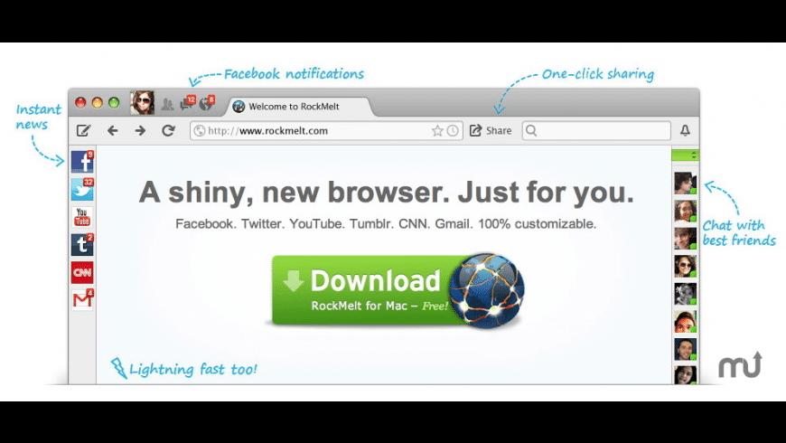 RockMelt for Mac - review, screenshots