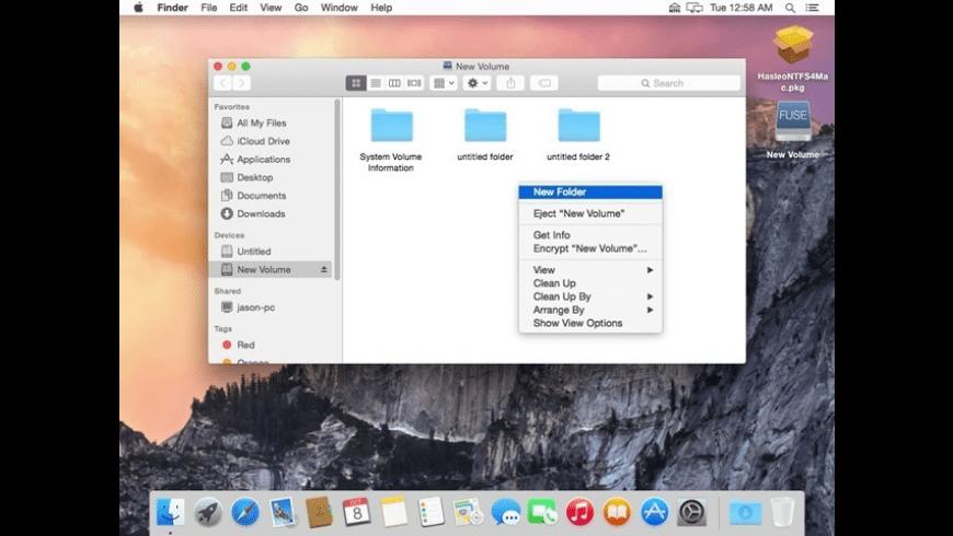 Hasleo NTFS for Mac - review, screenshots