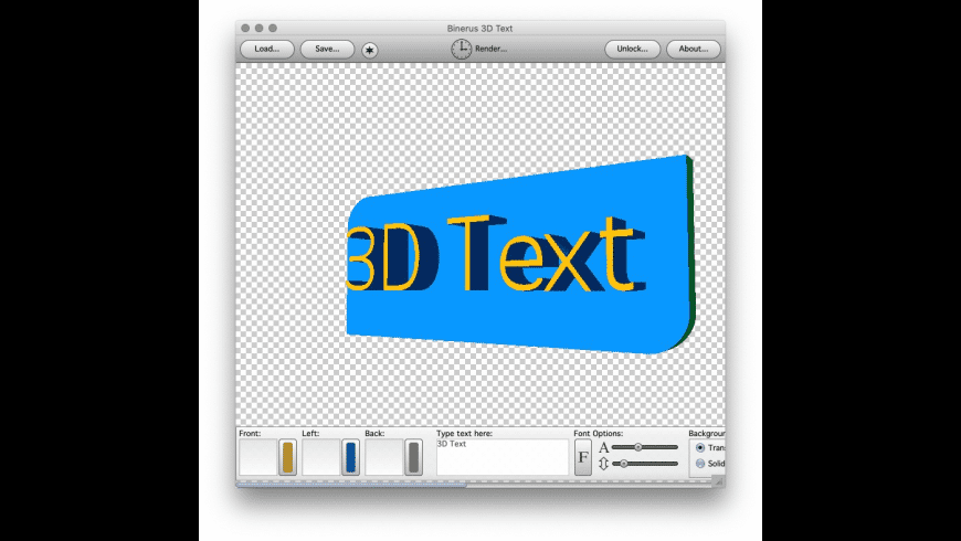 3D Text for Mac - review, screenshots