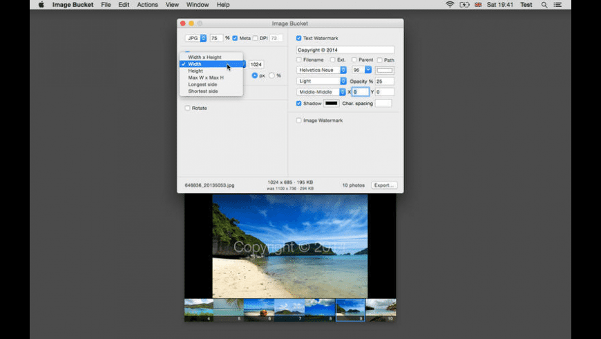 Image Bucket for Mac - review, screenshots