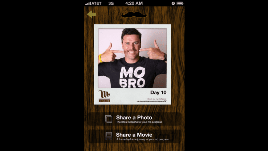 Movember MoPhone for Mac - review, screenshots