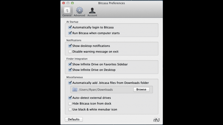 Bitcasa for Mac - review, screenshots