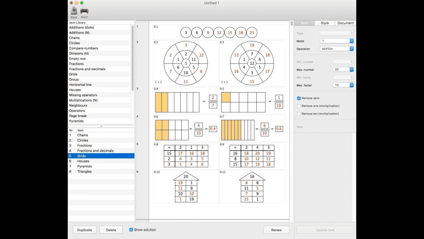 NP Worksheets for Mac - review, screenshots