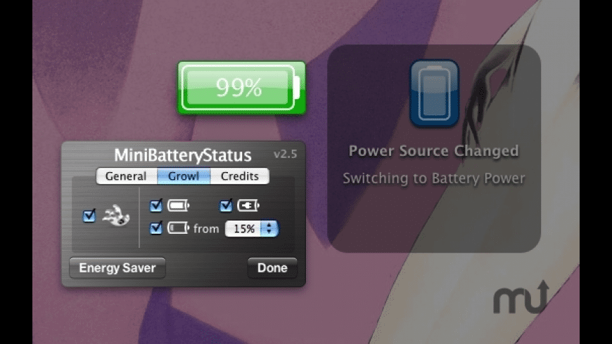 MiniBatteryStatus for Mac - review, screenshots