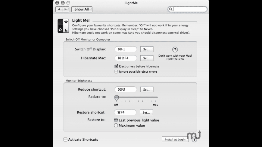 LightMe for Mac - review, screenshots