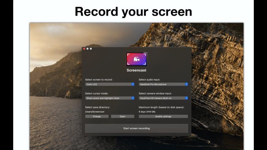 Screencast for Mac - review, screenshots