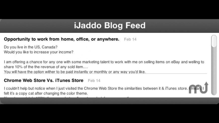 iJaddo RSS for Mac - review, screenshots