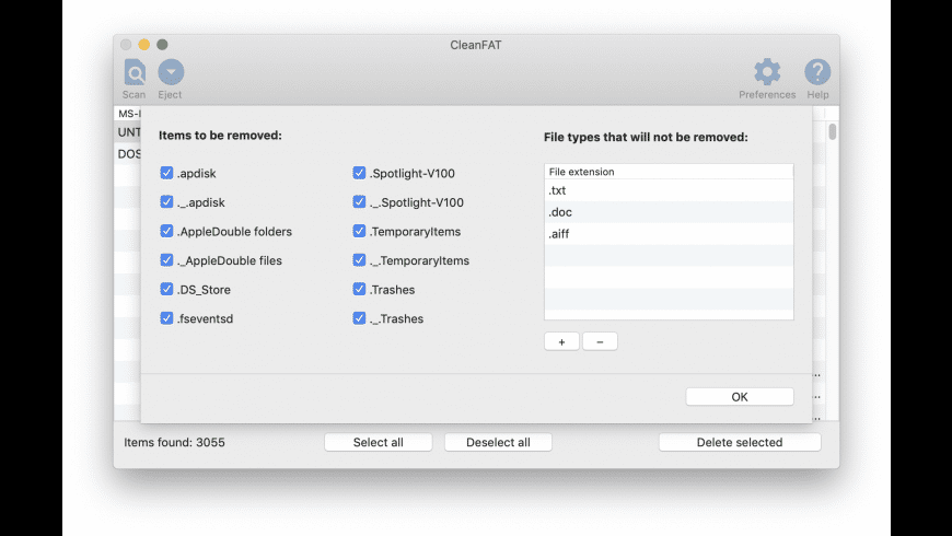 CleanFAT for Mac - review, screenshots