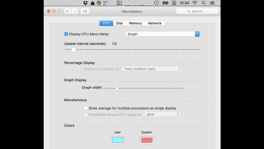 MenuMeters for Mac - review, screenshots