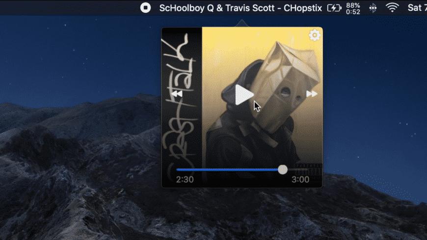 Music Bar for Mac - review, screenshots