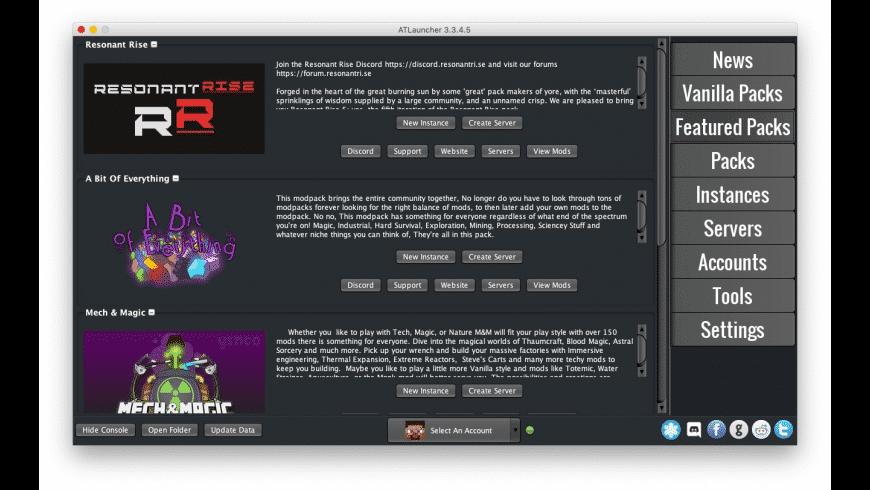 ATLauncher for Mac - review, screenshots