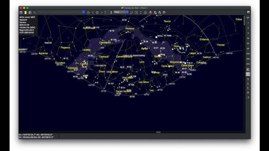 SkyChart for Mac - review, screenshots