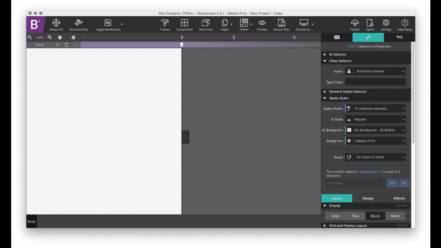CoffeeCup Site Designer for Mac - review, screenshots