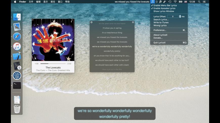 LyricsX for Mac - review, screenshots