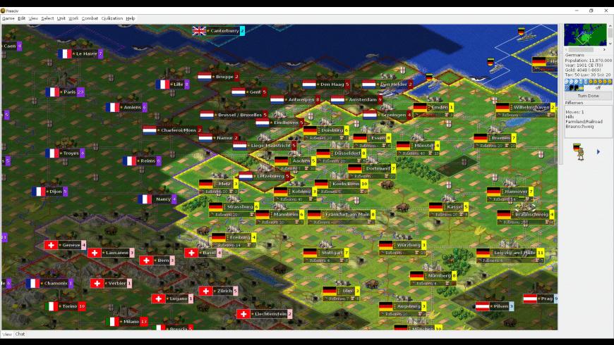 Freeciv for Mac - review, screenshots