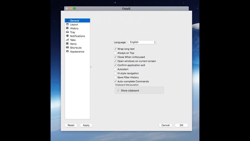 CopyQ for Mac - review, screenshots