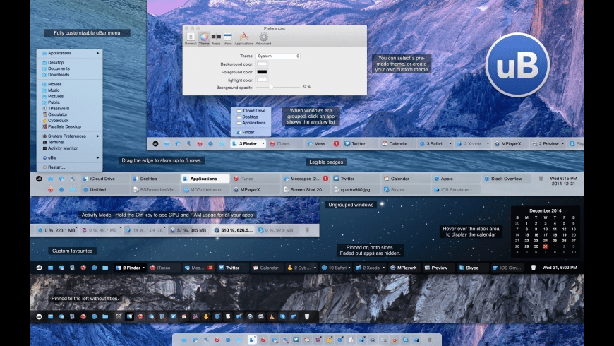 uBar for Mac - review, screenshots