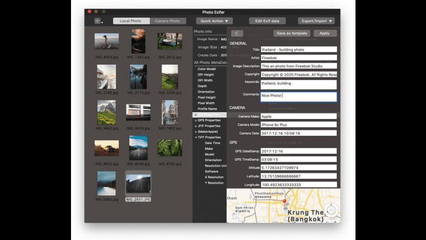 Photo Exifer for Mac - review, screenshots