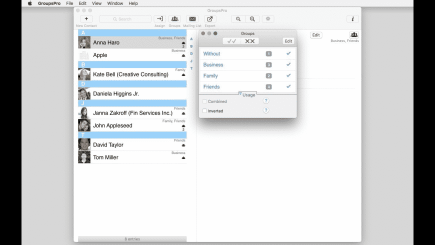 GroupsPro for Mac - review, screenshots