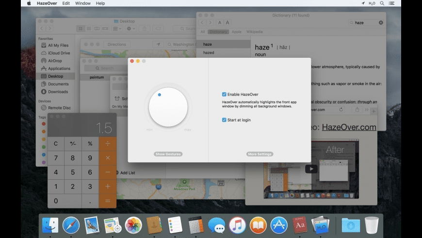 HazeOver for Mac - review, screenshots