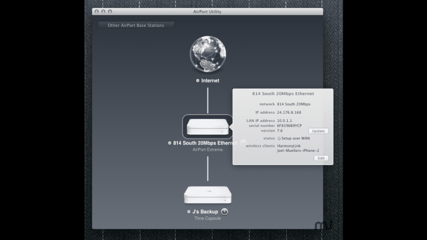 AirPort Utility for Mac - review, screenshots