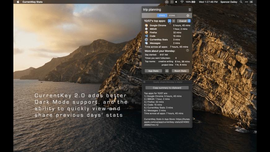 CurrentKey Stats for Mac - review, screenshots
