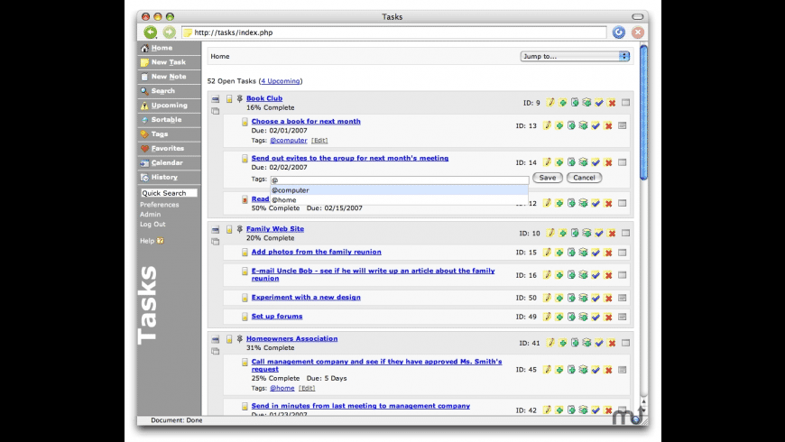 Tasks for Mac - review, screenshots