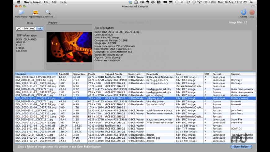 PhotoHound for Mac - review, screenshots
