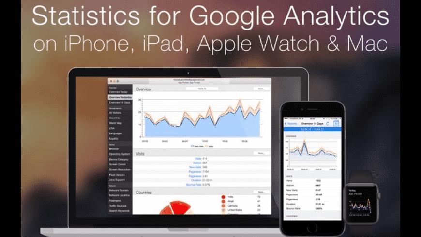 Statistics for GoogleAnalytics for Mac - review, screenshots
